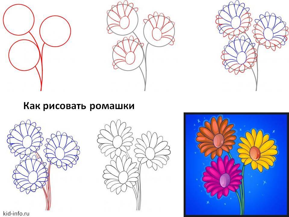 Как нарисовать цветы для открытки с 782