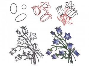 tegninger af blomster nemme