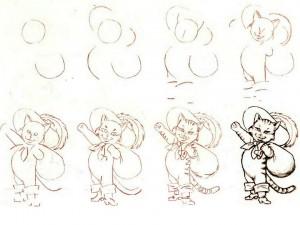 Как нарисовать Кота в сапогах