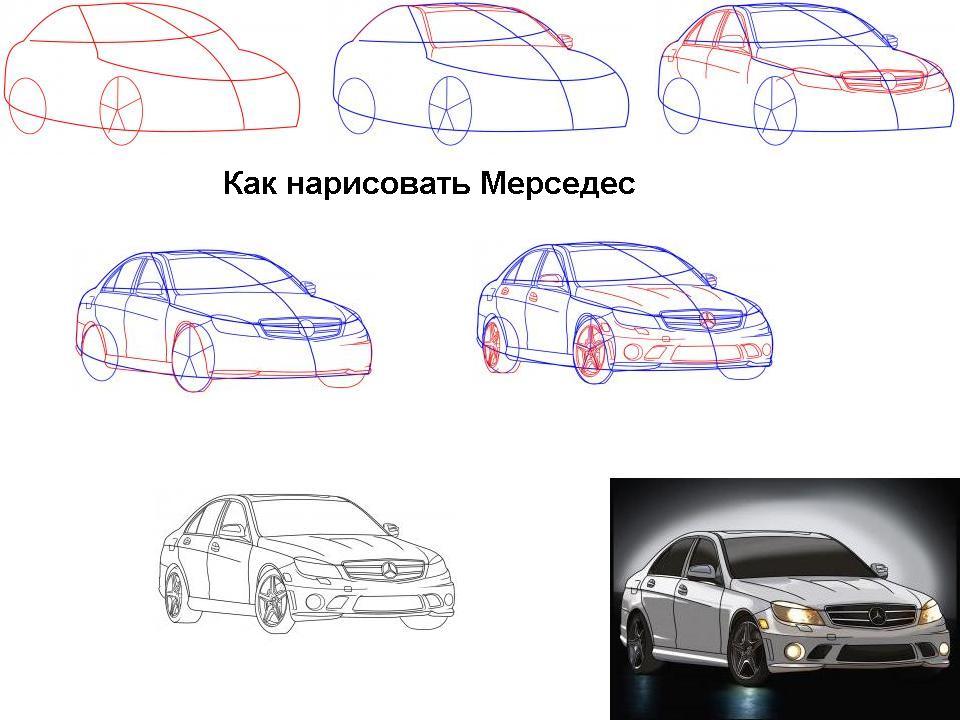 как нарисоват самий лохкий машини