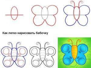 Как легко нарисовать бабочку