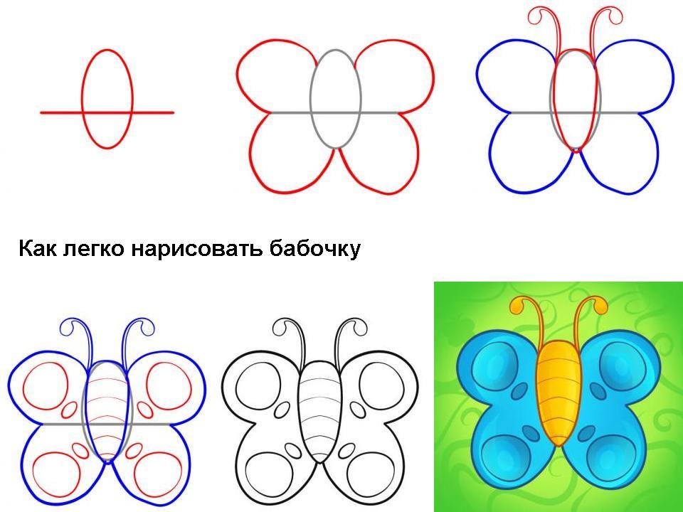 Как нарисовать бабочку.