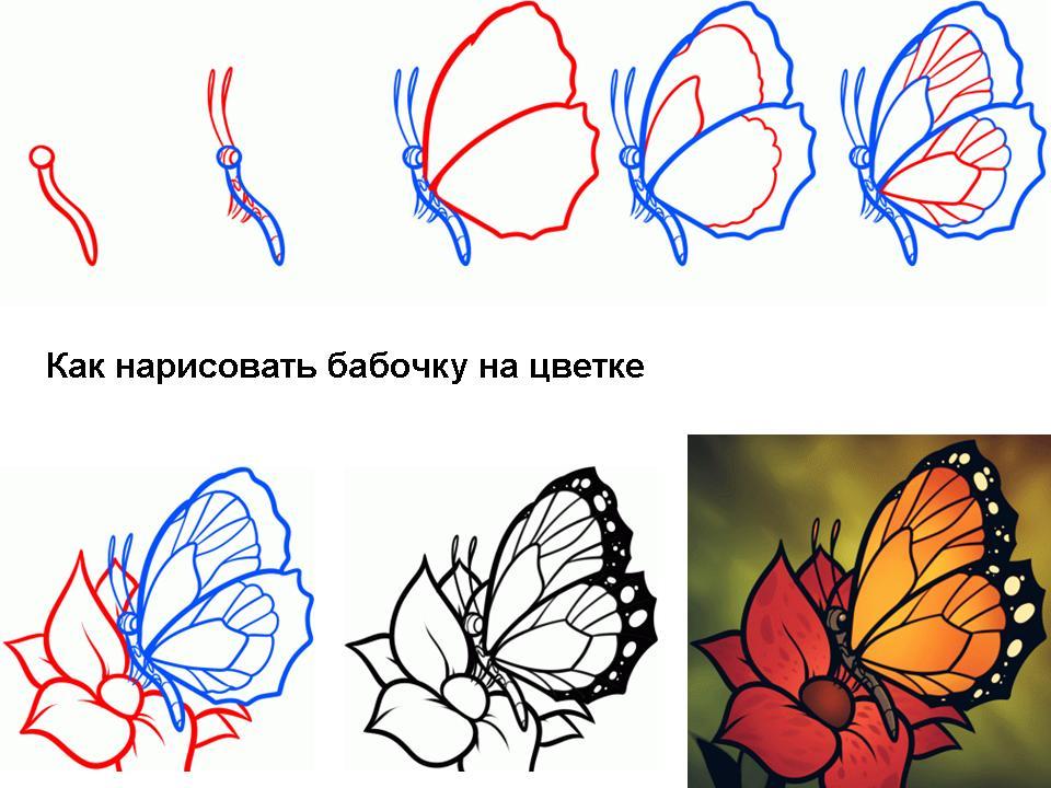 Рисуем бабочки на ногтях пошагово 38