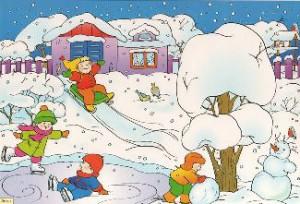 Развивающие занятия и игры с детьми зимой.