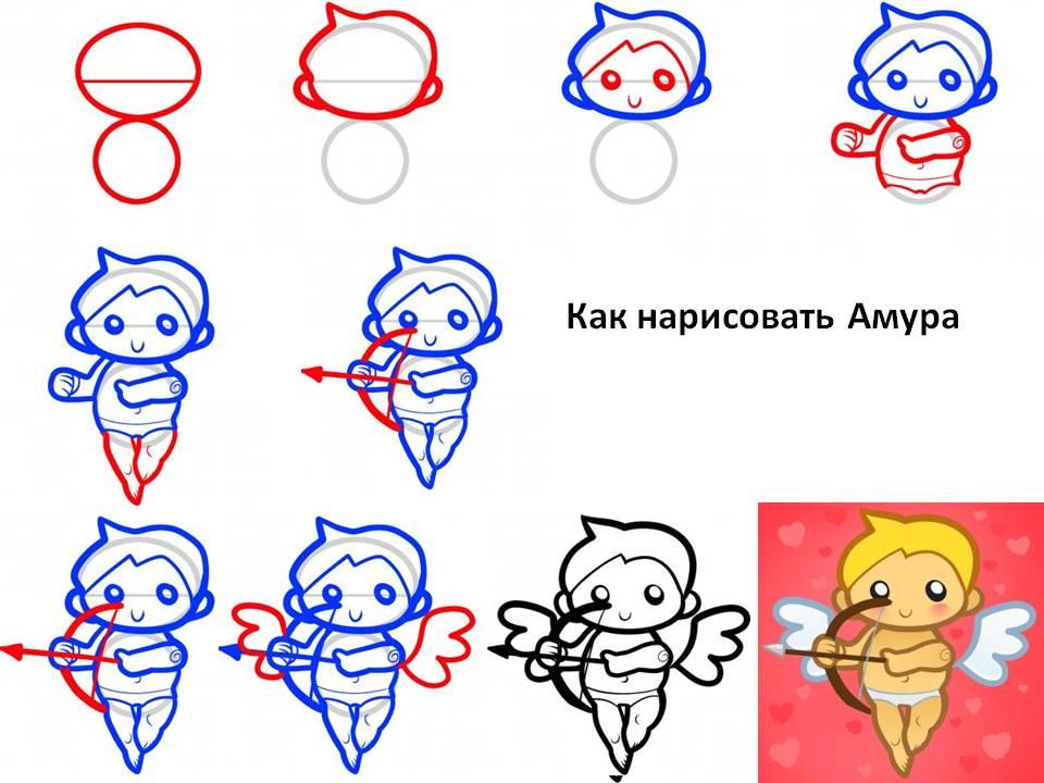 Как рисовать Амура