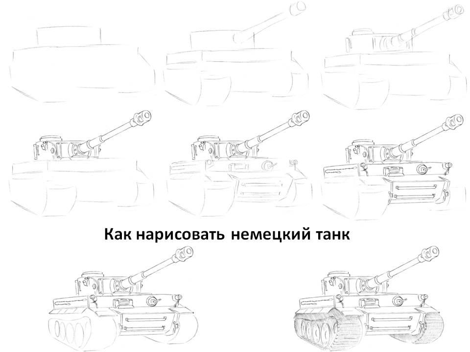 Как нарисовать немецкий танк