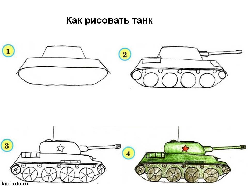 Как нарисовать простой танк
