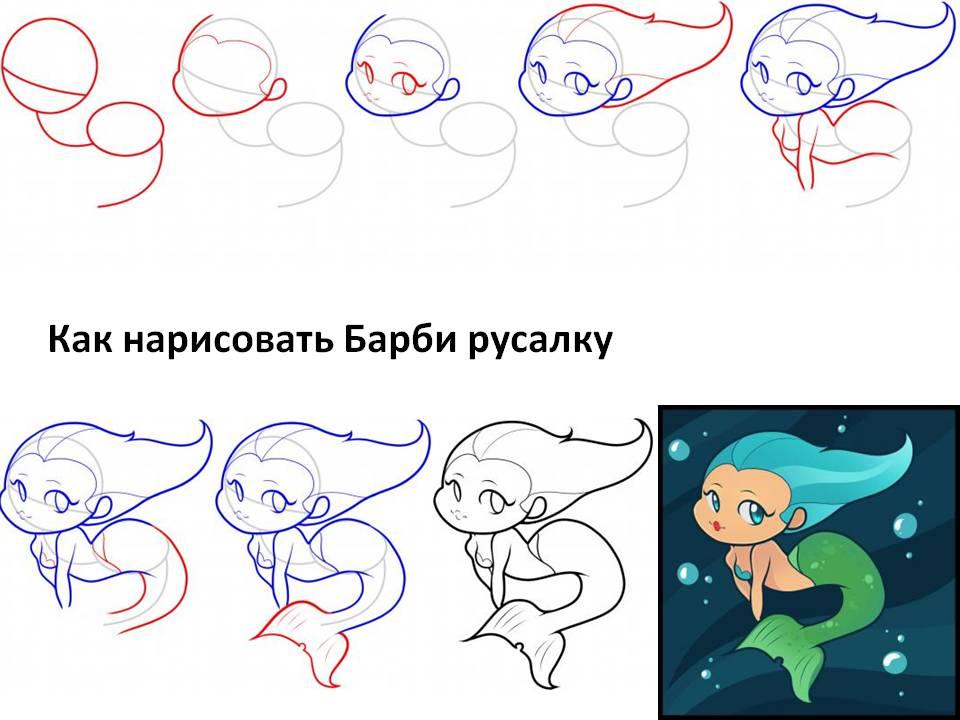 Барби русалка