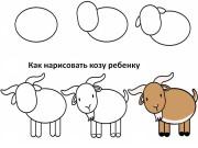 Как нарисовать козу ребёнку