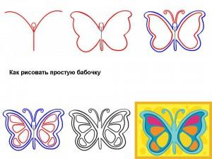 Как рисовать простую бабочку