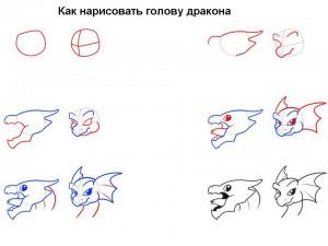 Как нарисовать голову дракона