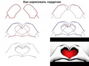 Как нарисовать сердечко