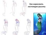 Как нарисовать настоящую русалку