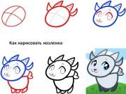 Как нарисовать козлёнка