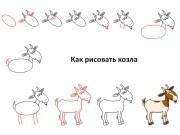 Как рисовать козла