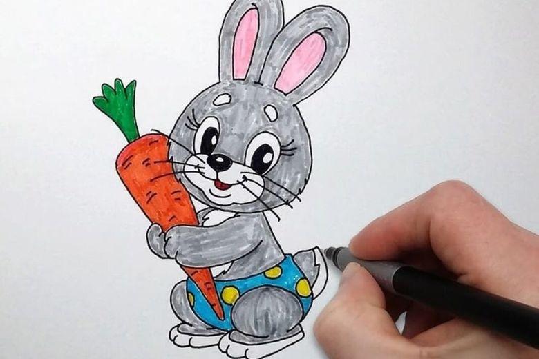 Как нарисовать зайца поэтапно карандашом: легкие и простые варианты рисования зайца для начинающих (120 картинок)