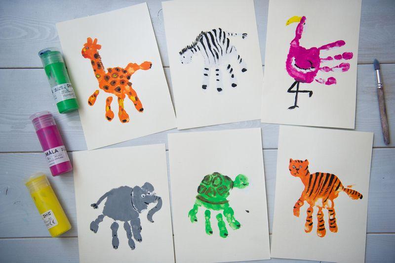 Рисование ладошками для детей – описание техники с примерами для детей